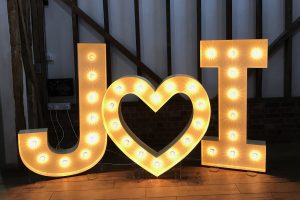 large light up letters to hire