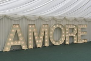 AMORE letter hire Longstowe Hall