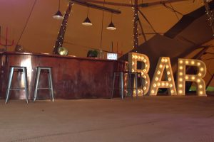 BAR light up letters to hire Hertfordshire
