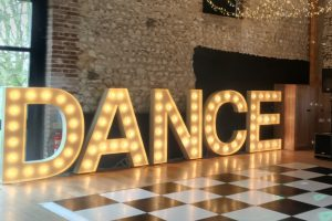 DANCE light up letter hire Granary Estates