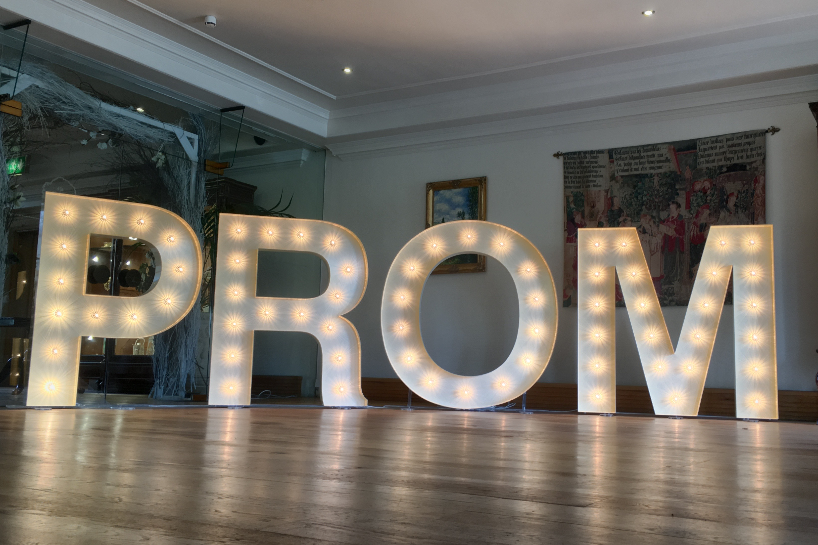prom light up letter hire
