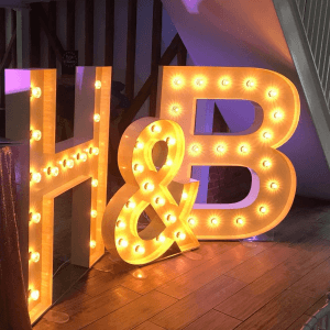 large light up letters for weddings