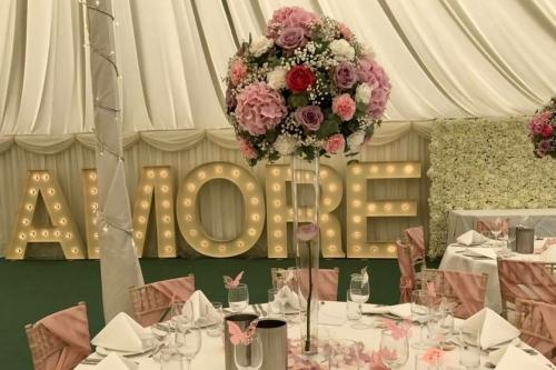 amore light up letters for hire