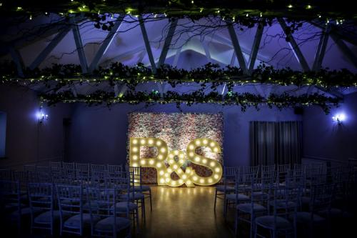light up letters and flower wall package