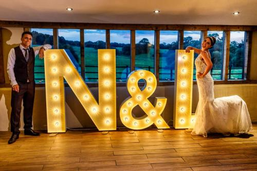 light up letter hire at coltsfoot country retreat